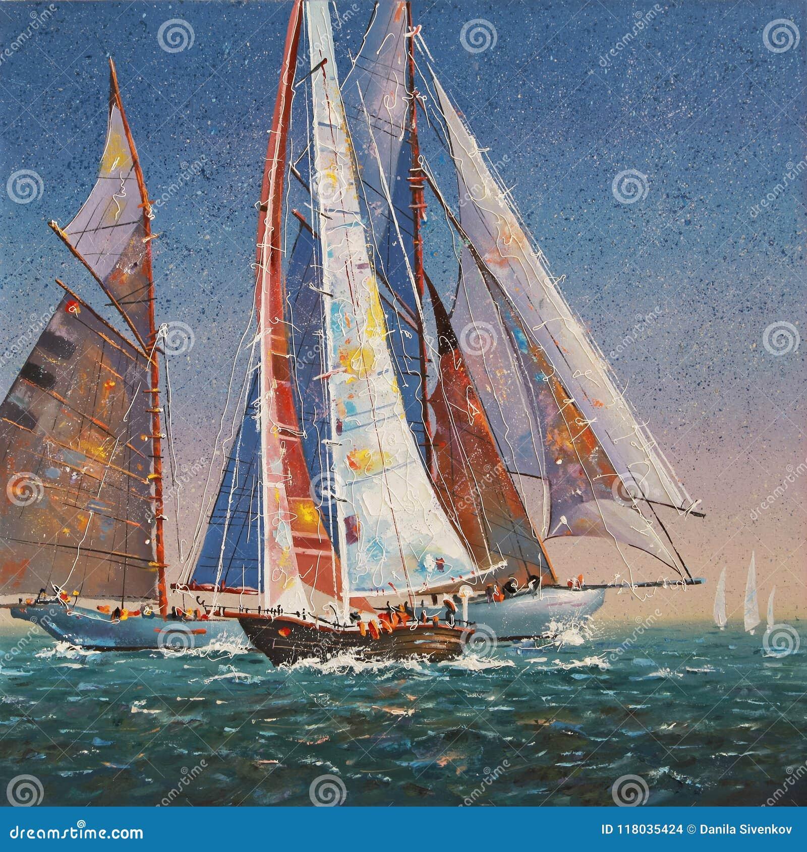 Artistically Lyftt seglar Författare: Nikolay Sivenkov