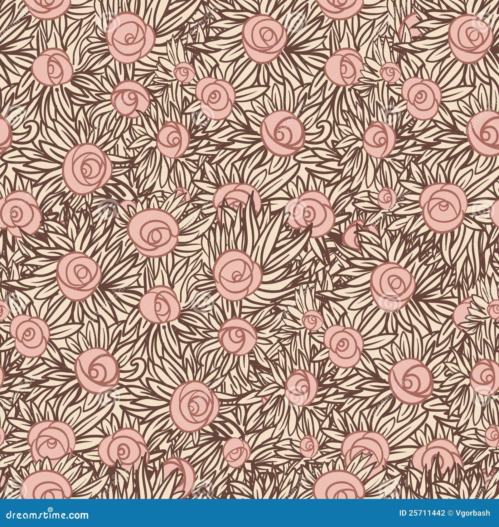 Artistiek Naadloos patroon met rozen