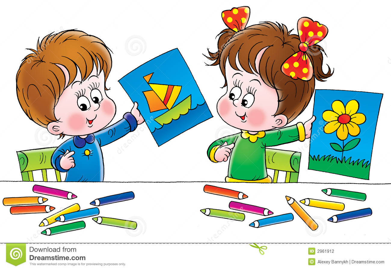 Artists stock illustration illustration of babies baby for Art and craft books for kids
