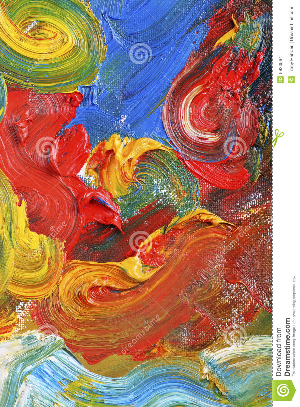 Artists abstract oil painting
