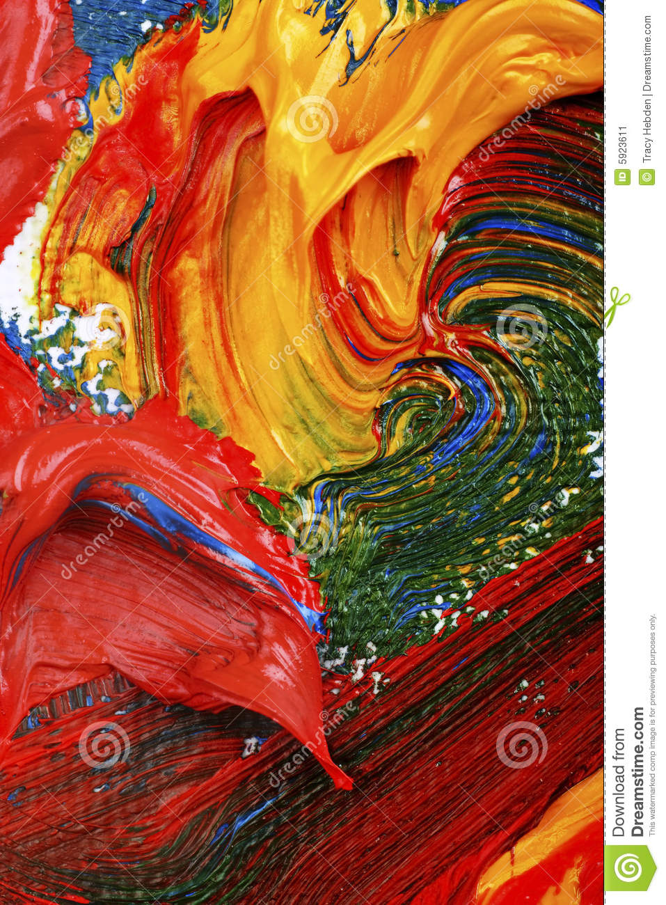 Artists Abstract Oil Painting Stock Image - Image: 5923611