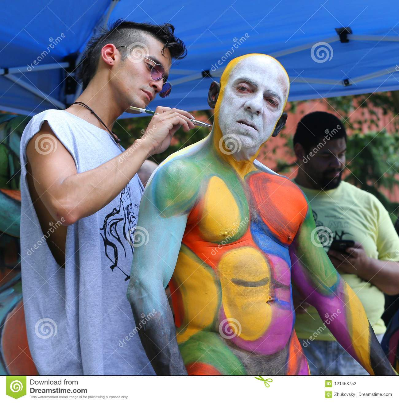 Artists Paint Fully Nude Models Of All Shapes And Sizes During 5th Nyc Body Painting Day Editorial Photography Image Of Featuring Colorful 121458752