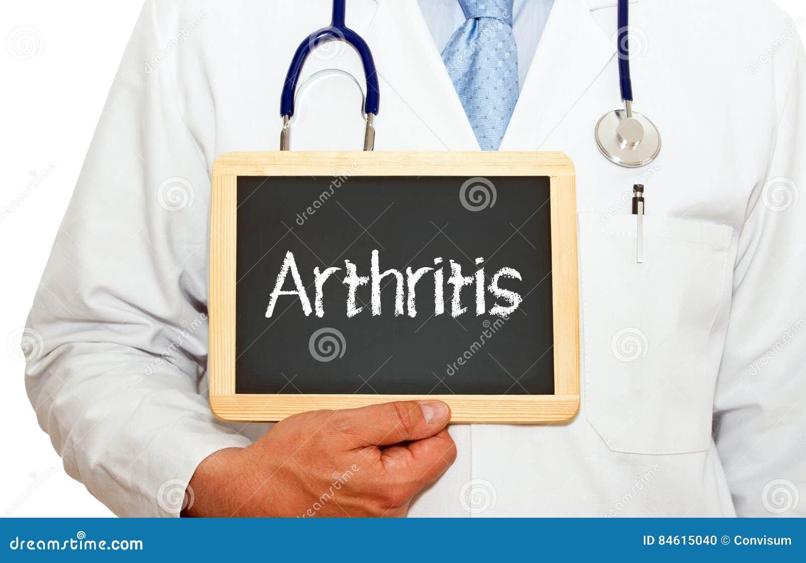 Artrit - doktor med den svart tavlan