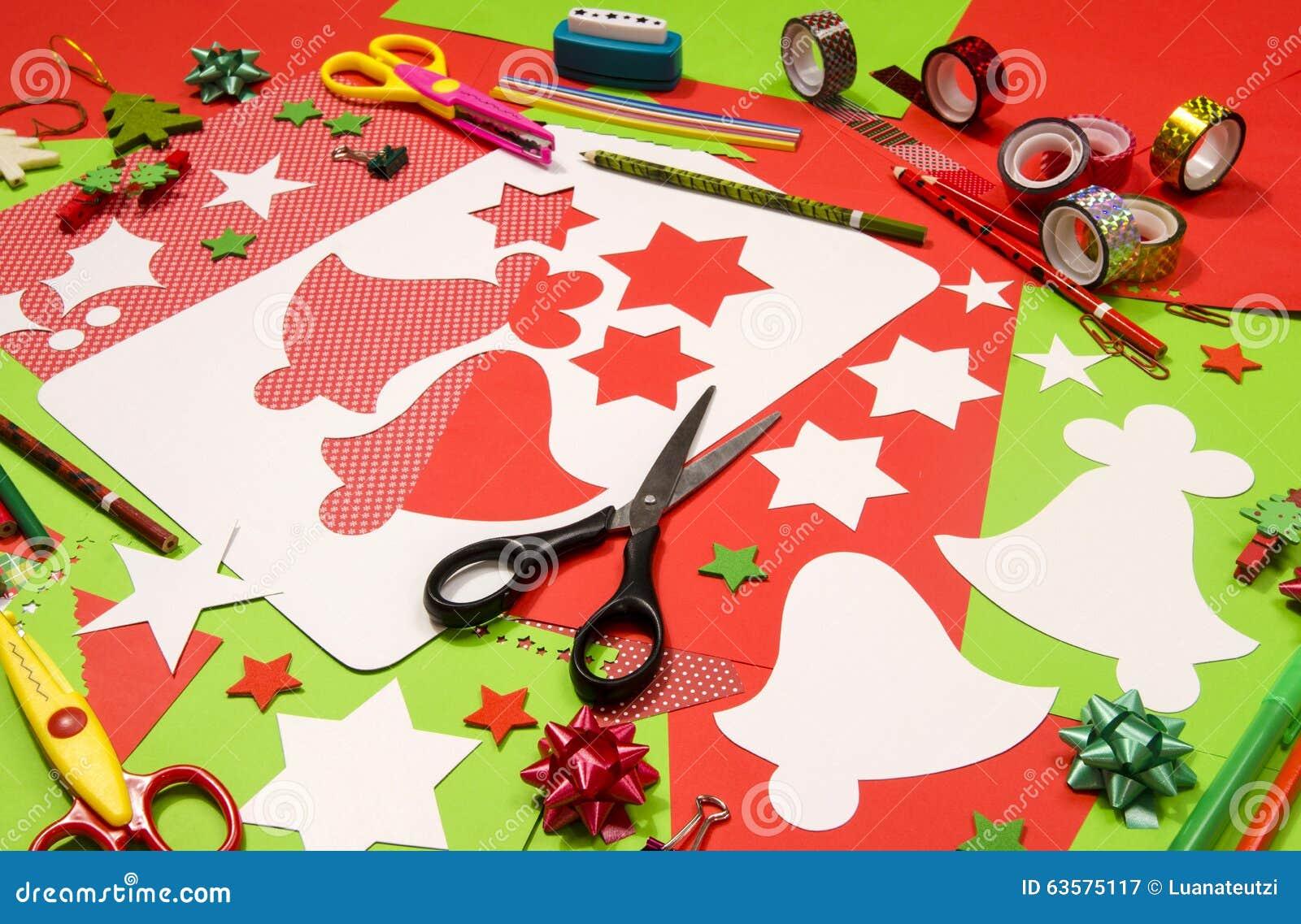 Craft Supplies Christmas Part - 33: Bell Cardboard Christmas Craft ...