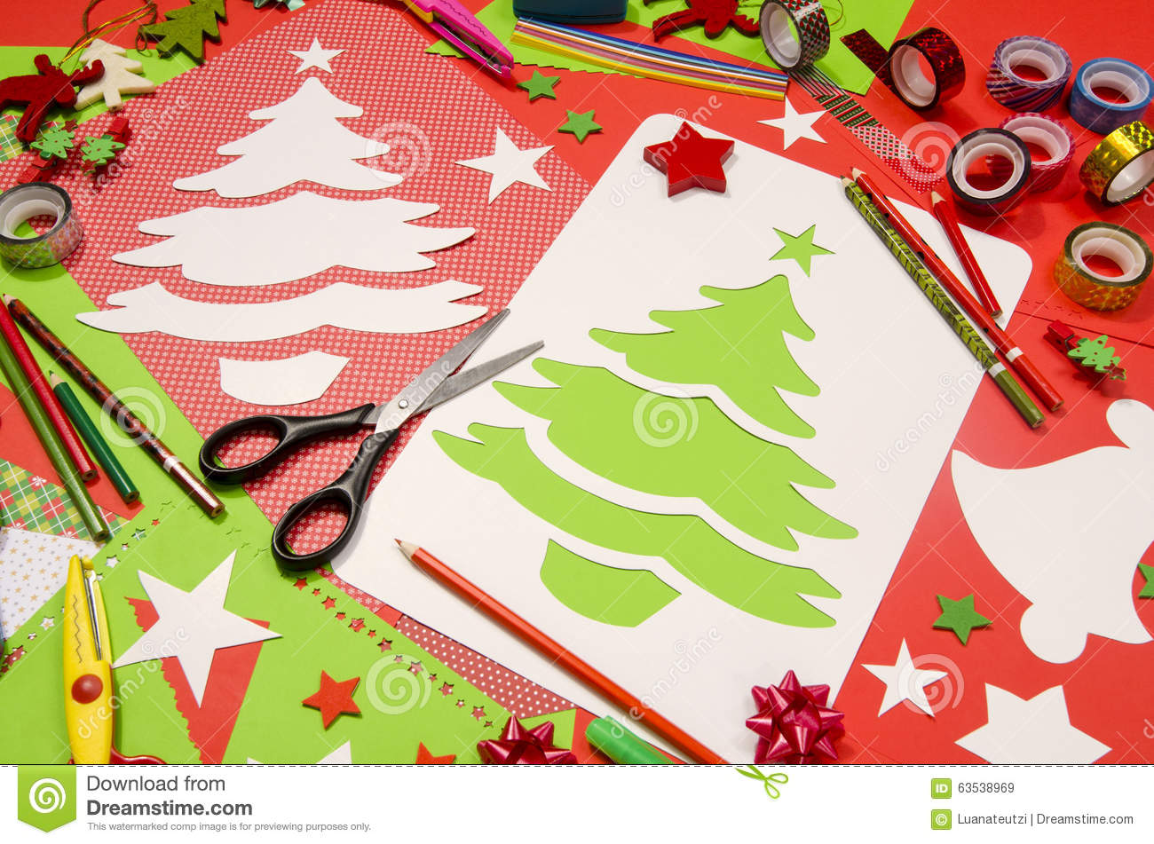 Craft Supplies Christmas Part - 21: Royalty-Free Stock Photo. Download Arts And Craft Supplies For Christmas.