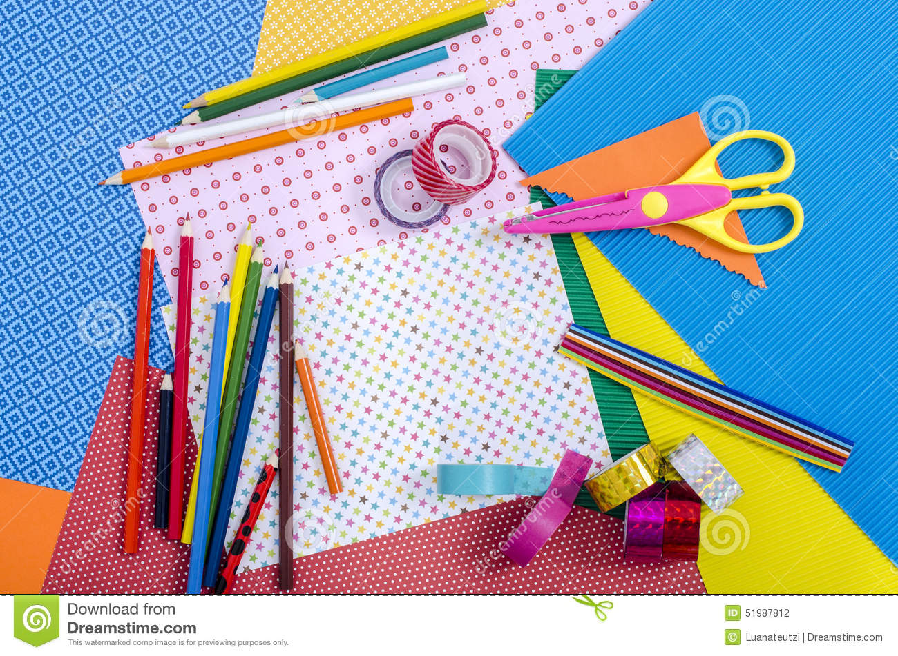 Arts and craft supplies stock photo image of different 51987812 download arts and craft supplies stock photo image of different 51987812 publicscrutiny Image collections