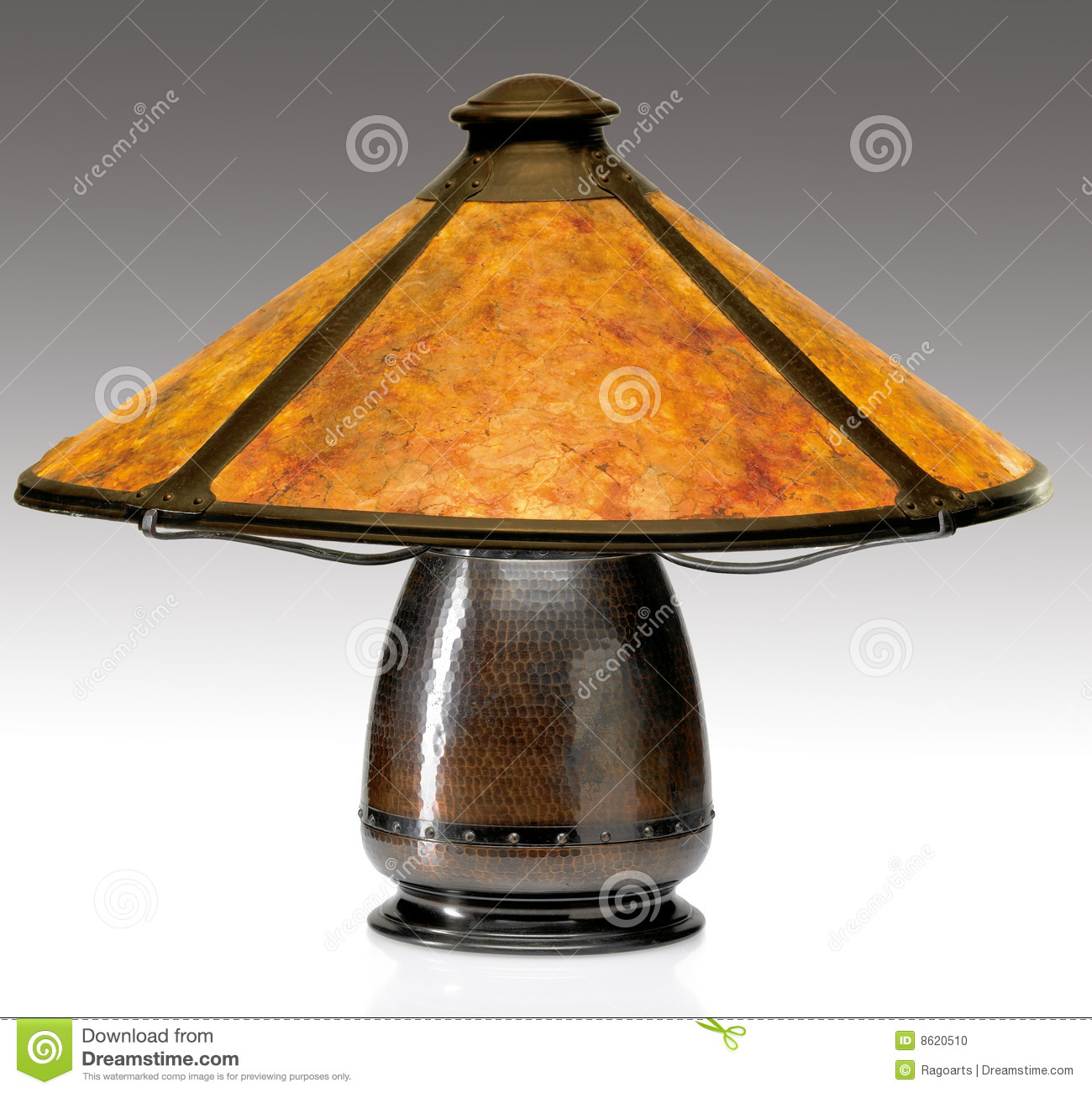 Arts and Crafts Mica Shade Table Lamp - Arts And Crafts Mica Shade Table Lamp Editorial Image - Image: 8620510