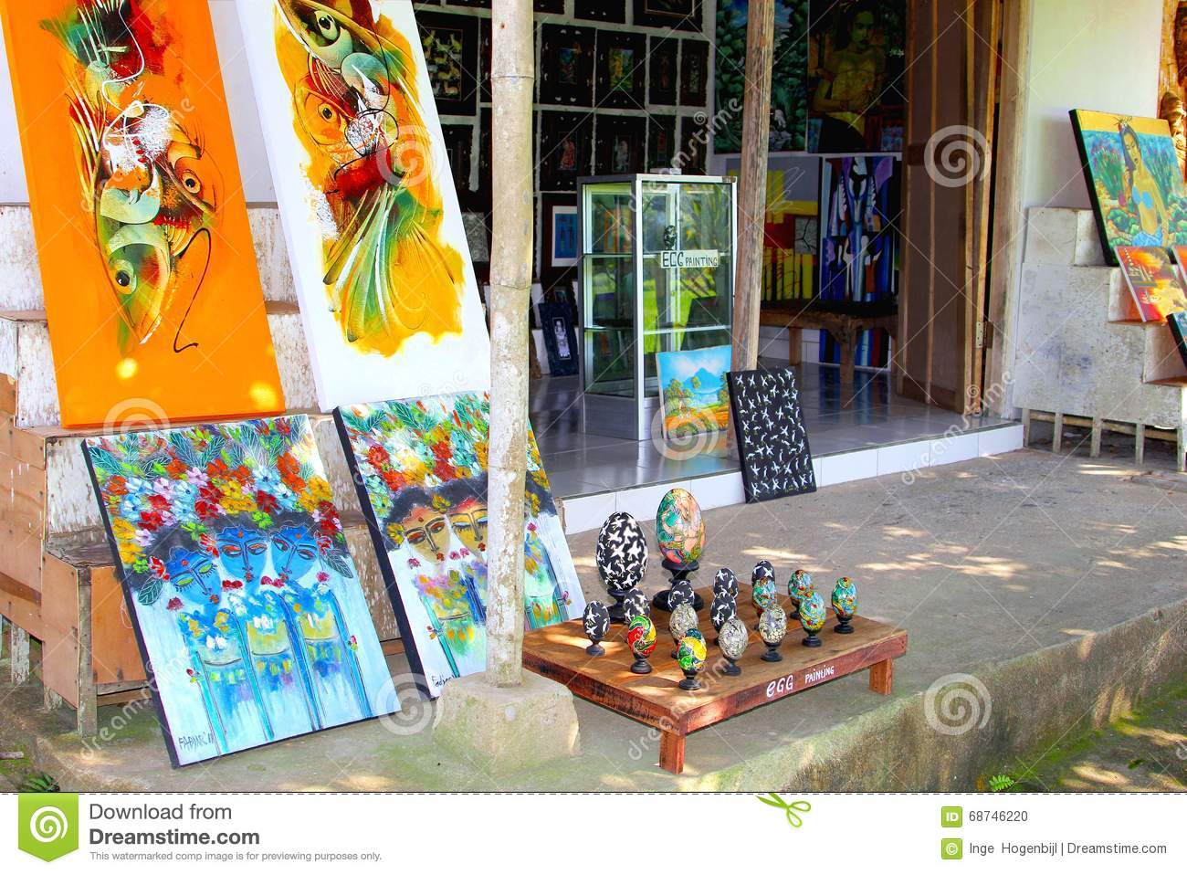 Artistic arts and crafts shop in ubud bali editorial for Art and craft shop