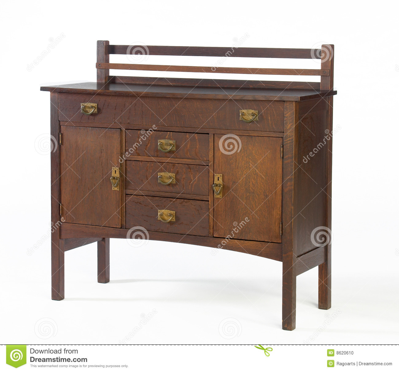Arts and crafts stickley oak sideboard editorial image for Arts and crafts furniture plans