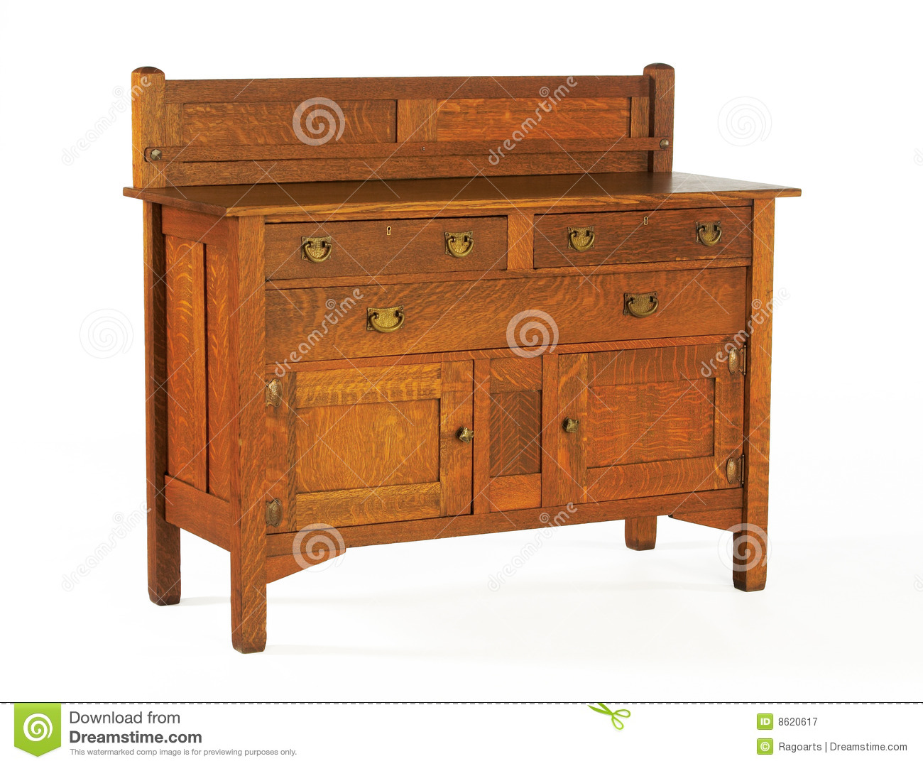 Arts And Crafts Stickley Oak Sideboard Editorial Photography Image 8620617