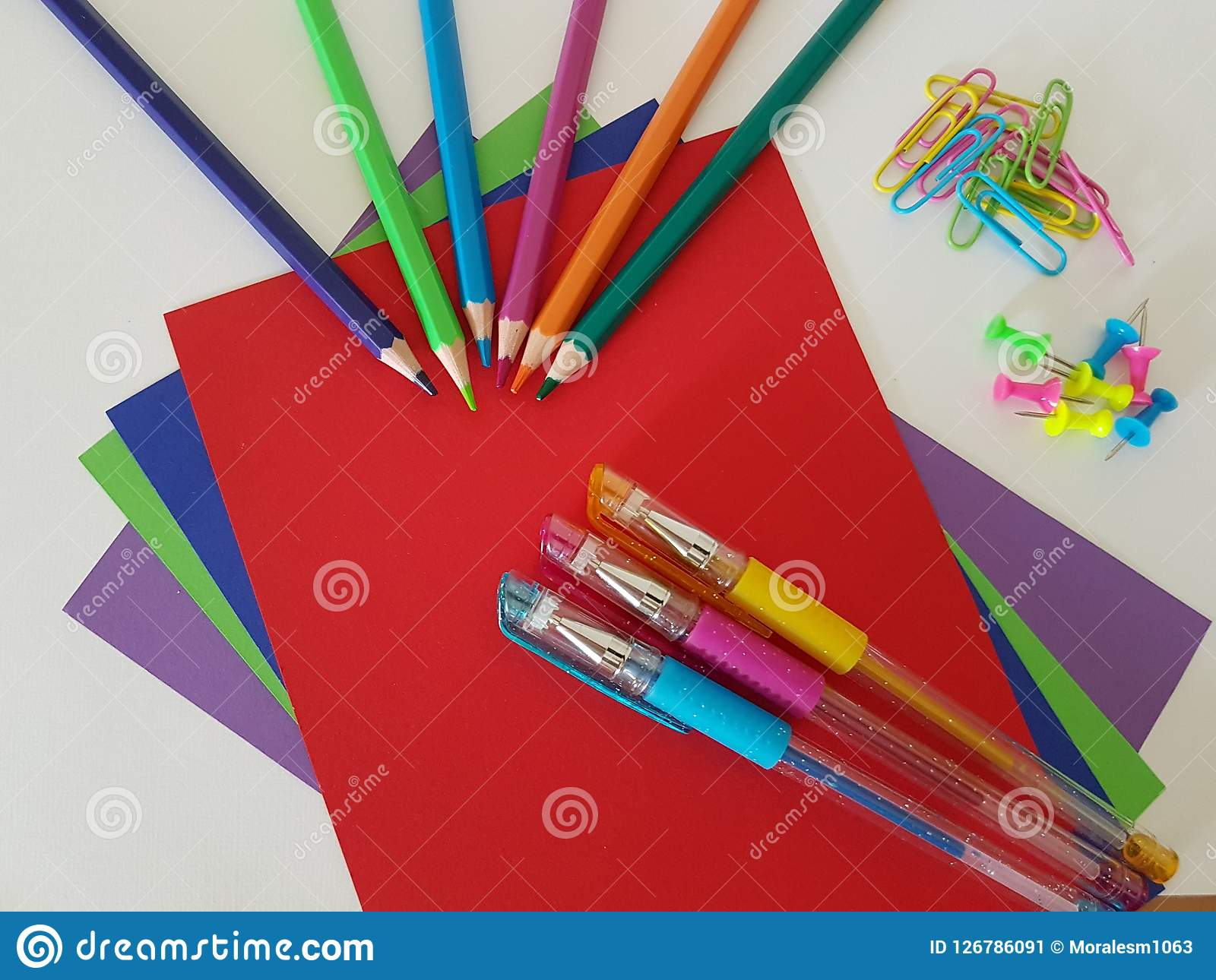 Arts And Crafts Supply School Supplies Stock Image Image Of