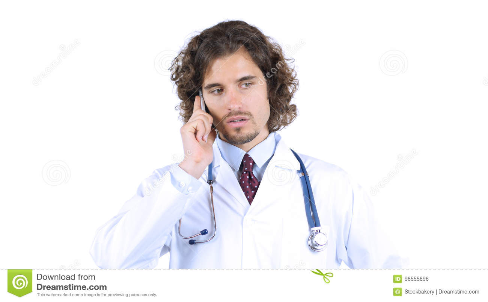 Arts die op smartphone spreken