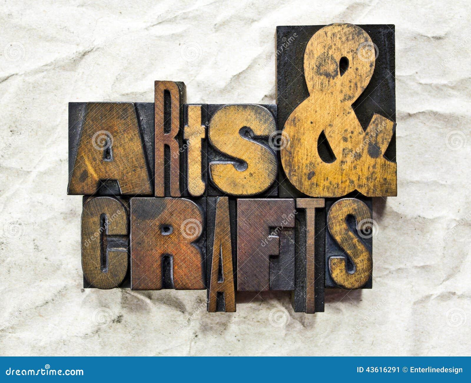 Arts et impression typographique de métiers
