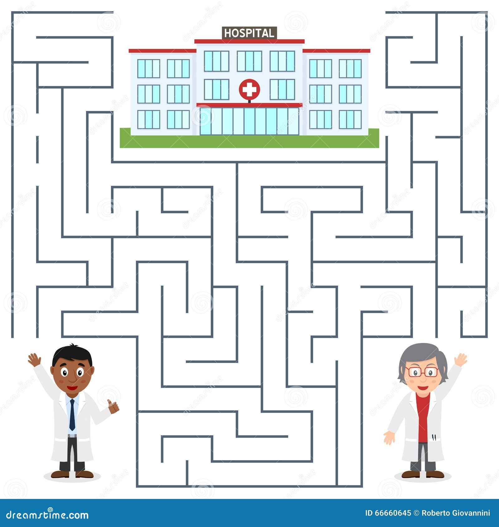 Artsen en het Ziekenhuislabyrint voor Jonge geitjes