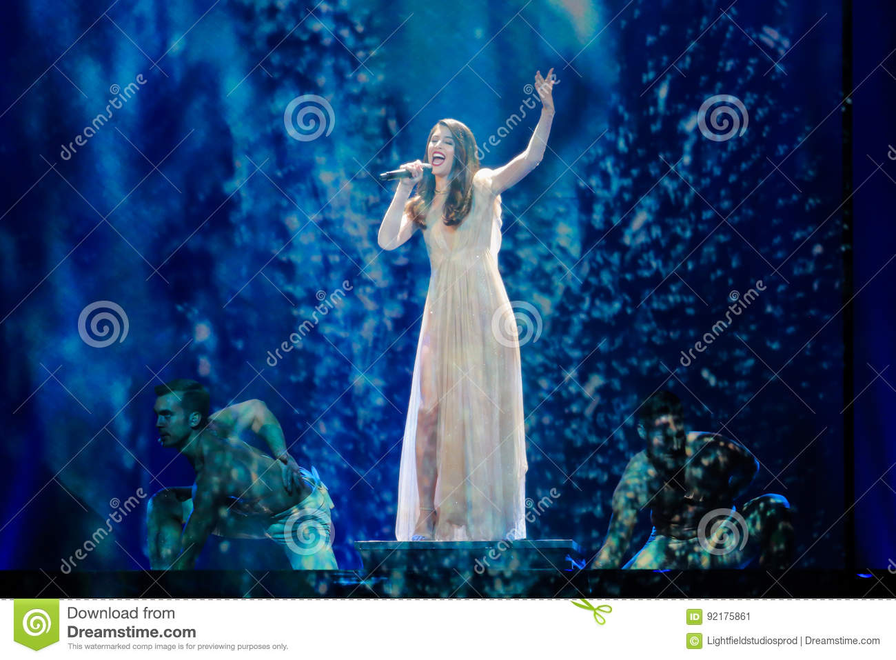 Artsvik from Armenia at the Eurovision Song Contest