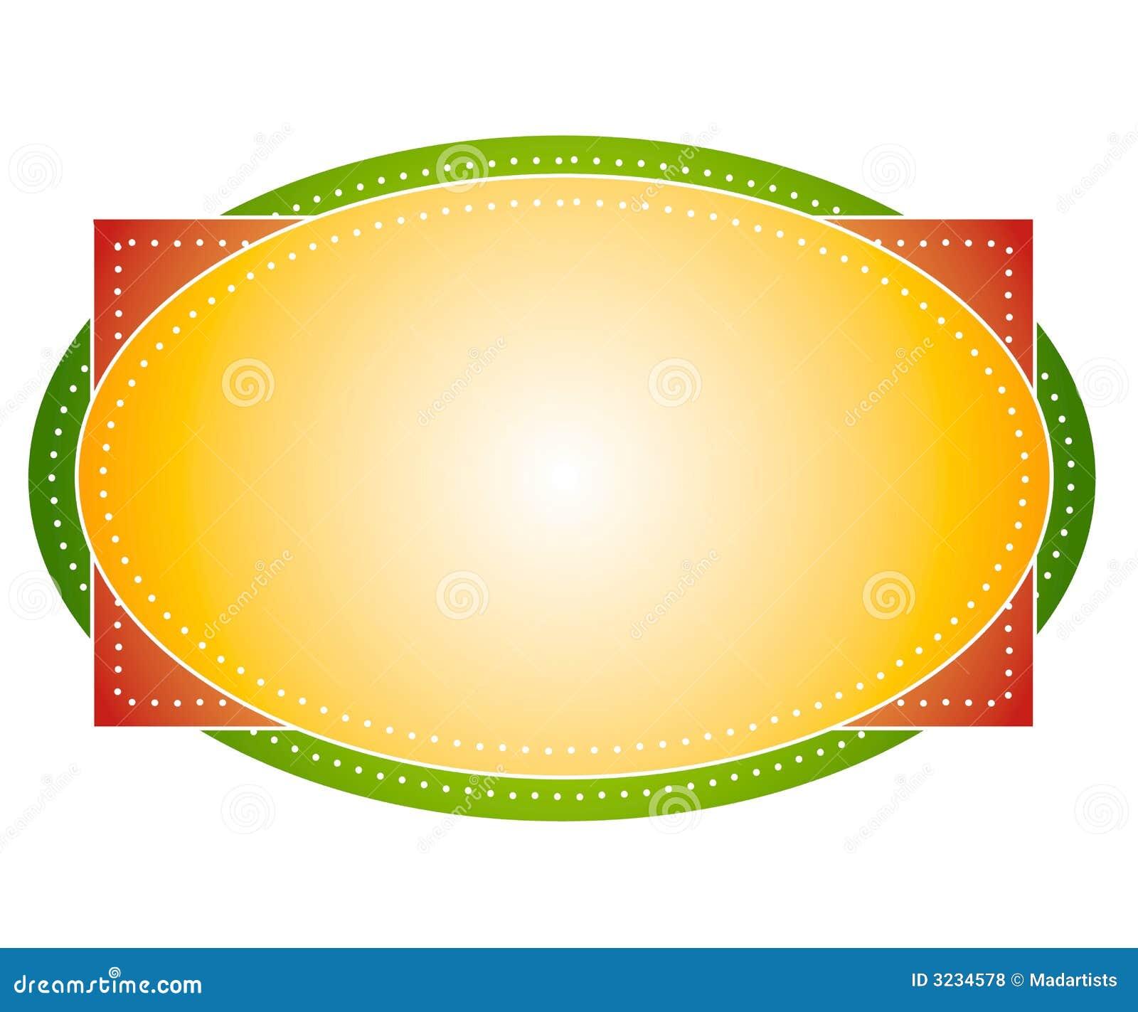 Artsy colora il contrassegno ovale di marchio