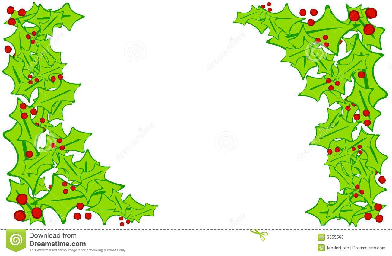 ... Holly Leaf Corner Borders Royalty Free Stock Image - Image: 3655586