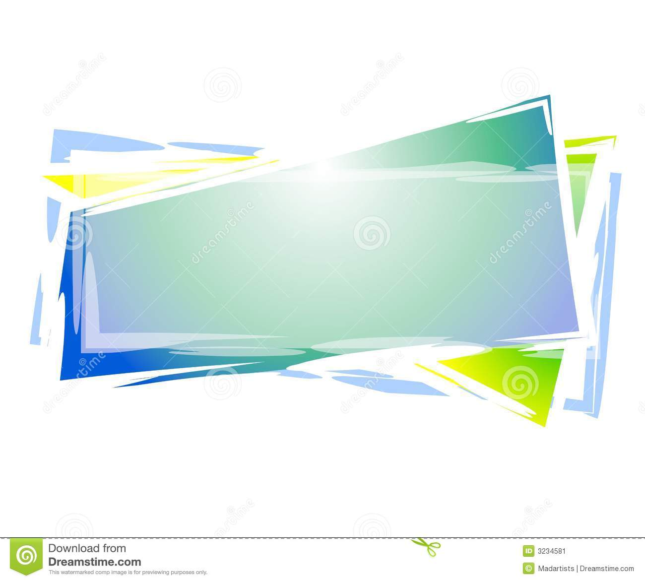 Artsy Rectangle Web Logo Stock Image - Image: 3234581