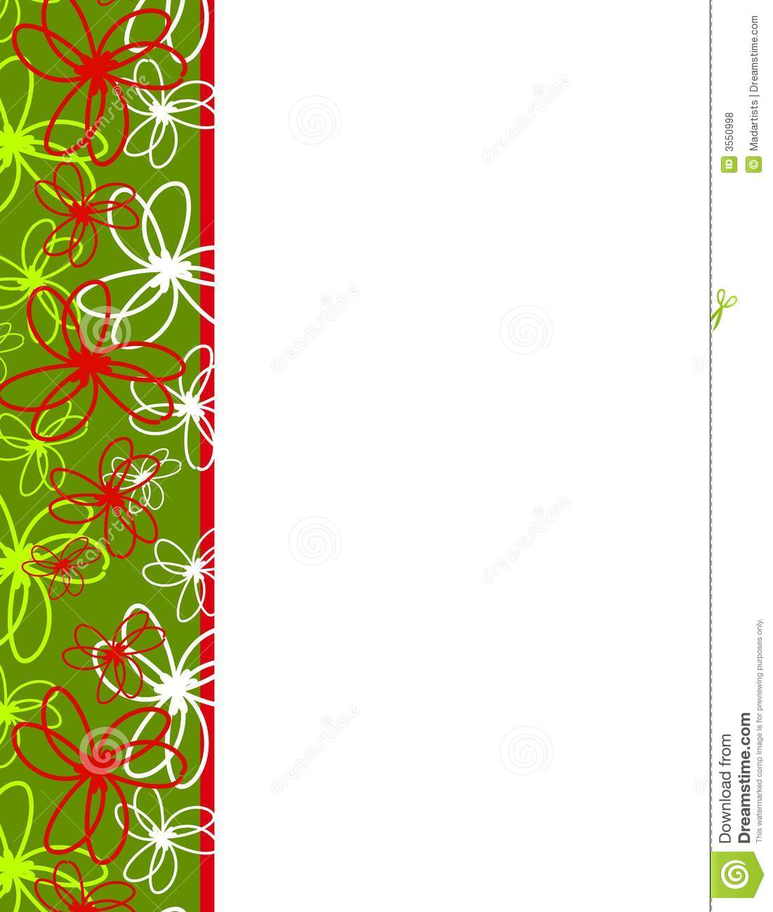 artsy ribbons christmas border royalty free stock photos