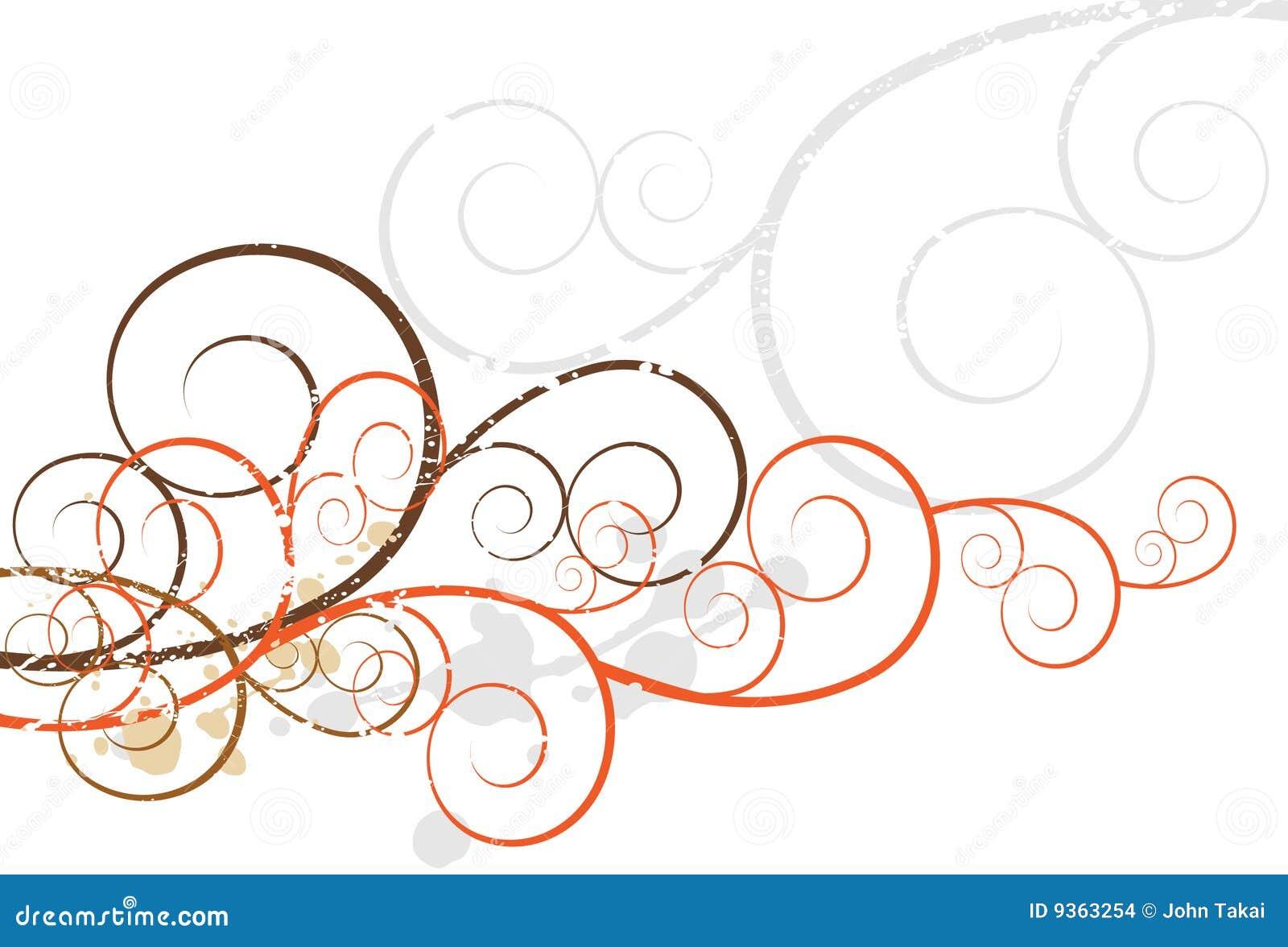 Background Design Element Of Artsy Swirls
