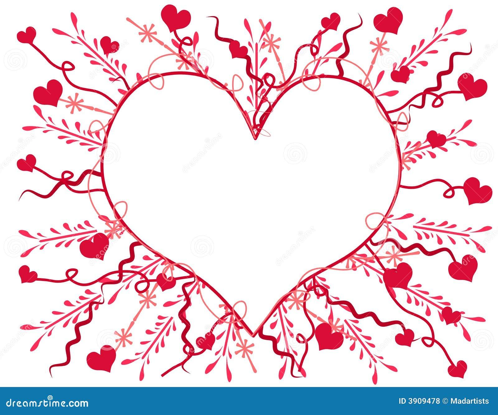 Artsy Valentines Day Heart Card 2 Royalty Free Photos – Valentine Heart Card