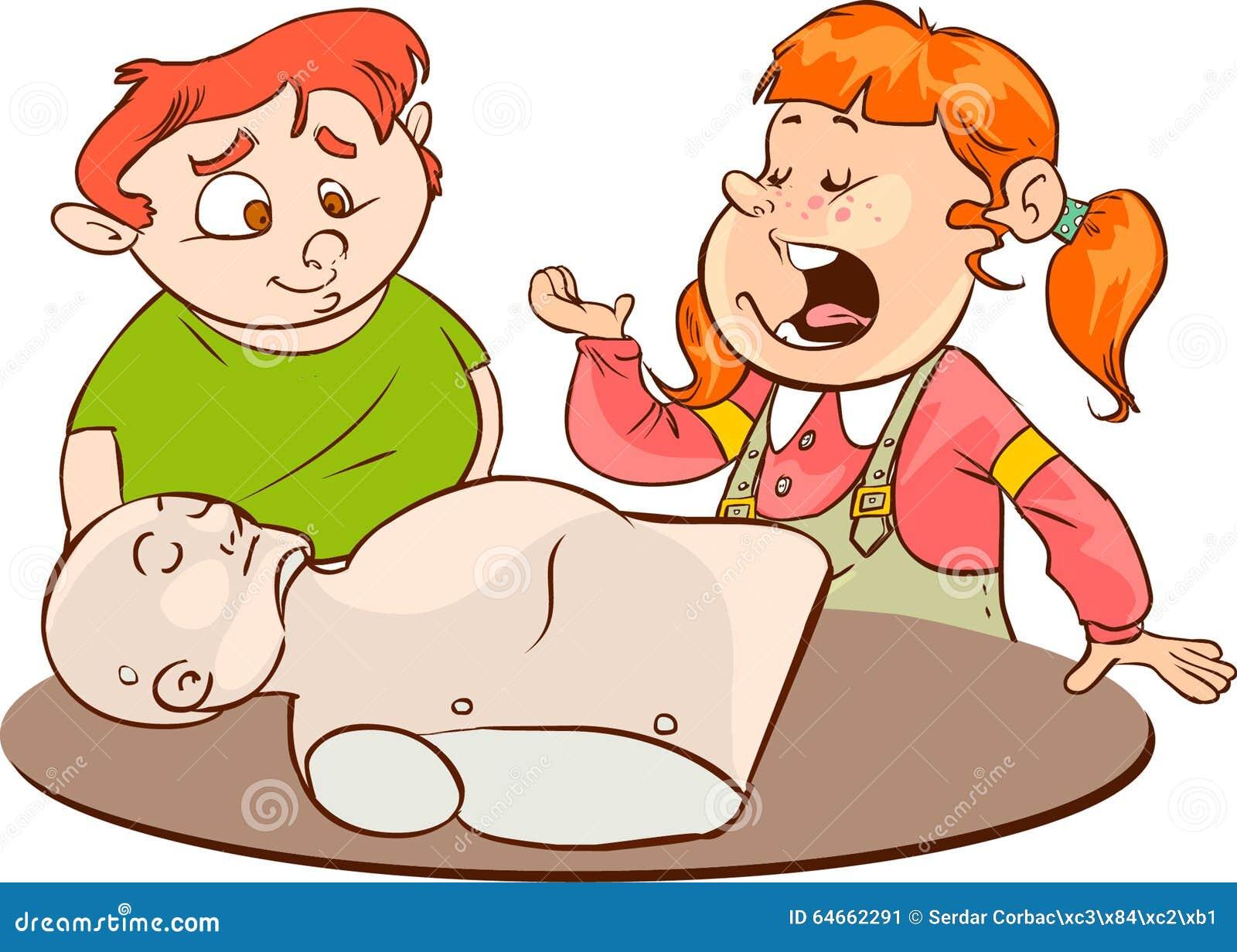 Żartuje ćwiczy CPR
