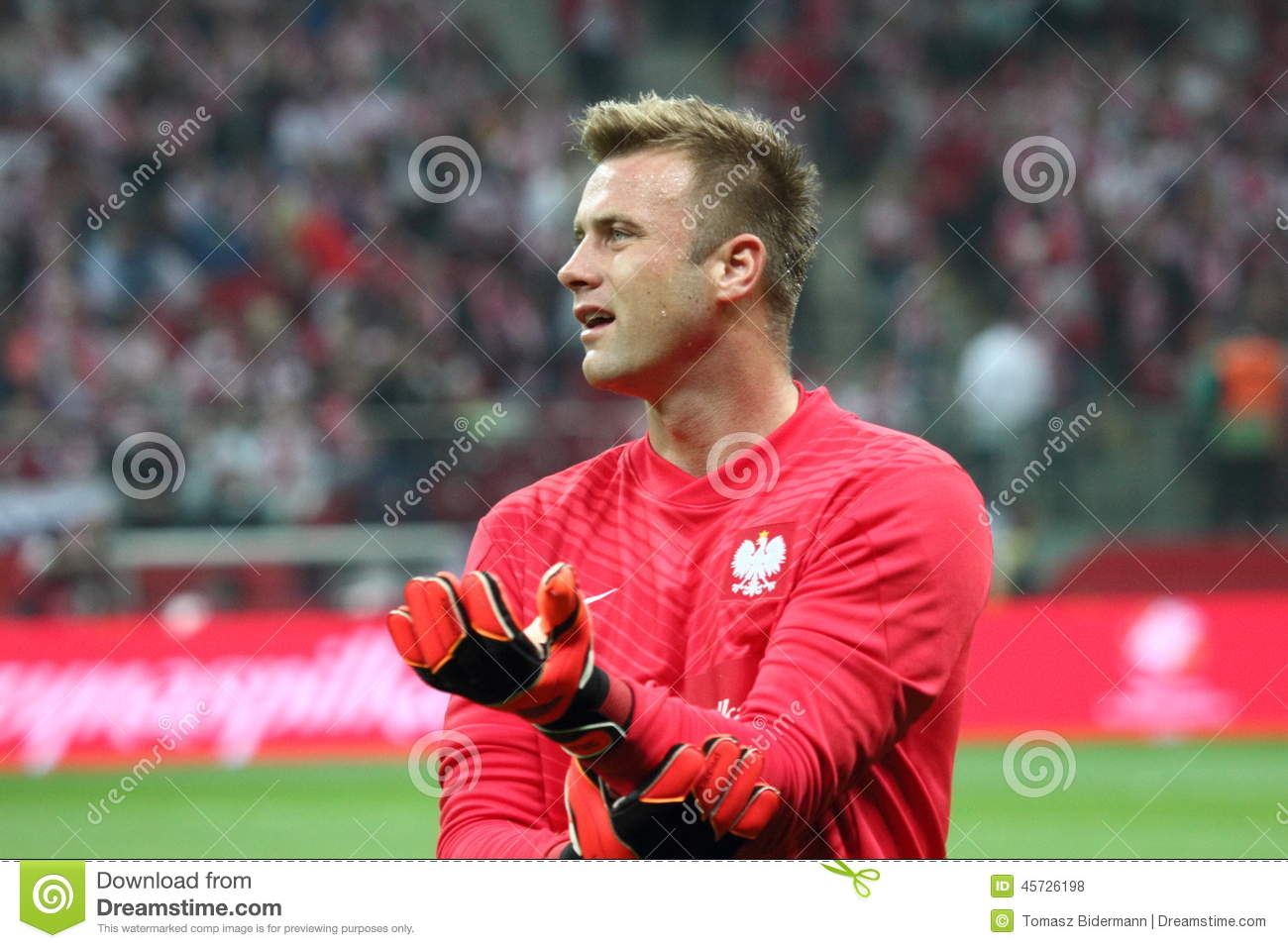 Artur Boruc editorial stock photo  Image of glasgow, footballer