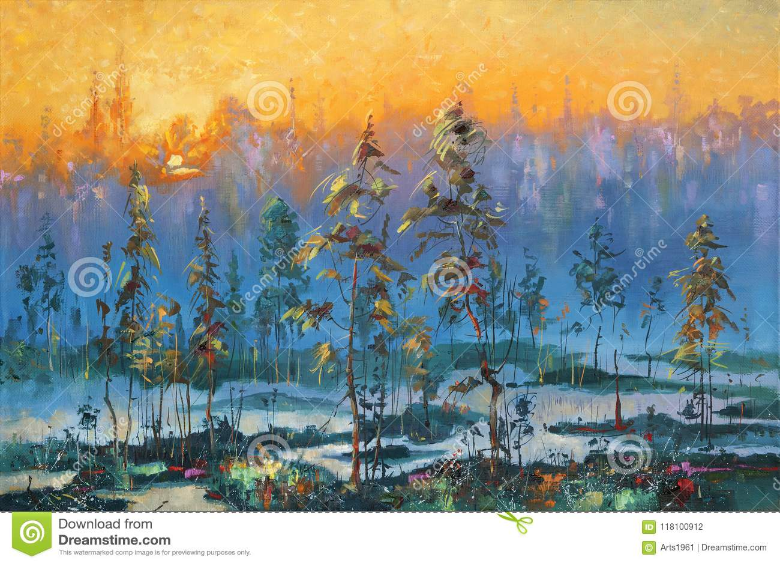 Artwork Alvorecer na tundra Autor: Nikolay Sivenkov