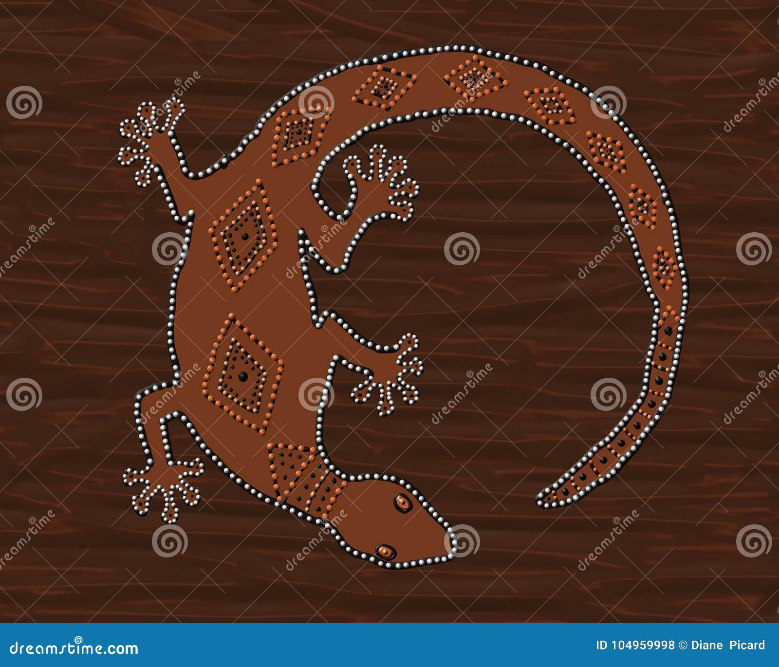 Brown Gecko Lizard Stock Illustration Illustration Of Australia