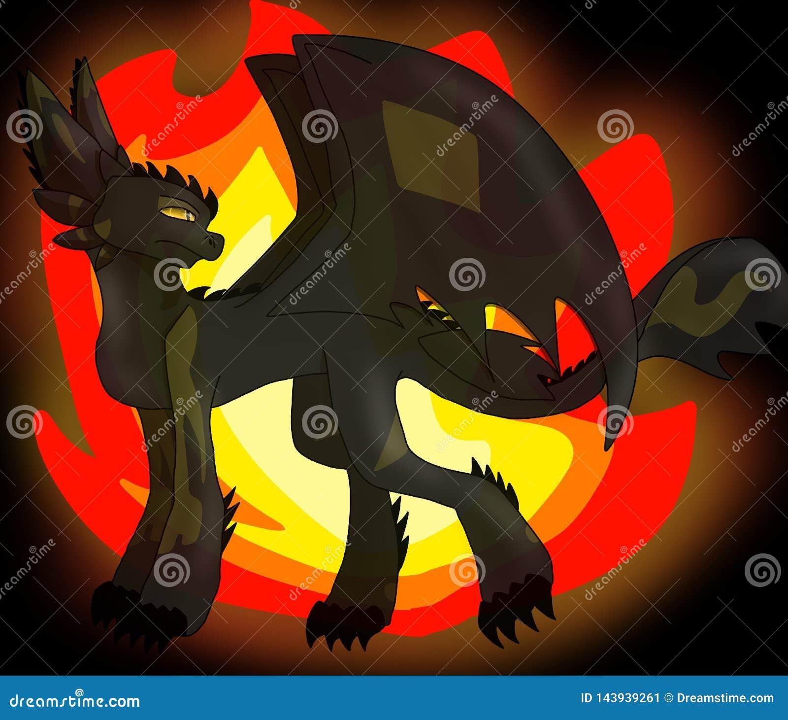 Artwork of Swift Wing - fire dragon