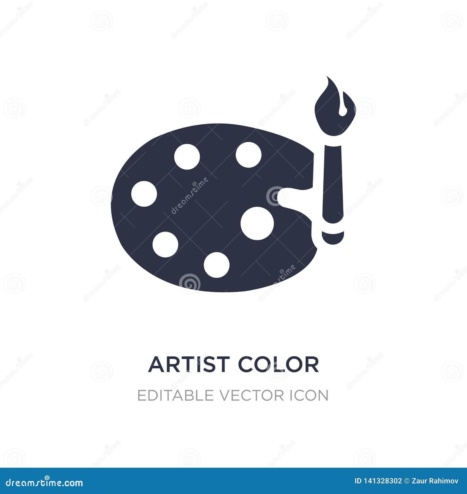 Artysty koloru palety ikona na białym tle Prosta element ilustracja od sztuki pojęcia