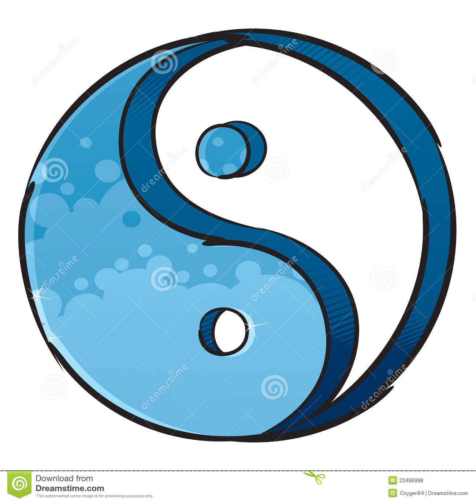 Artystyczny symbolu Yang yin