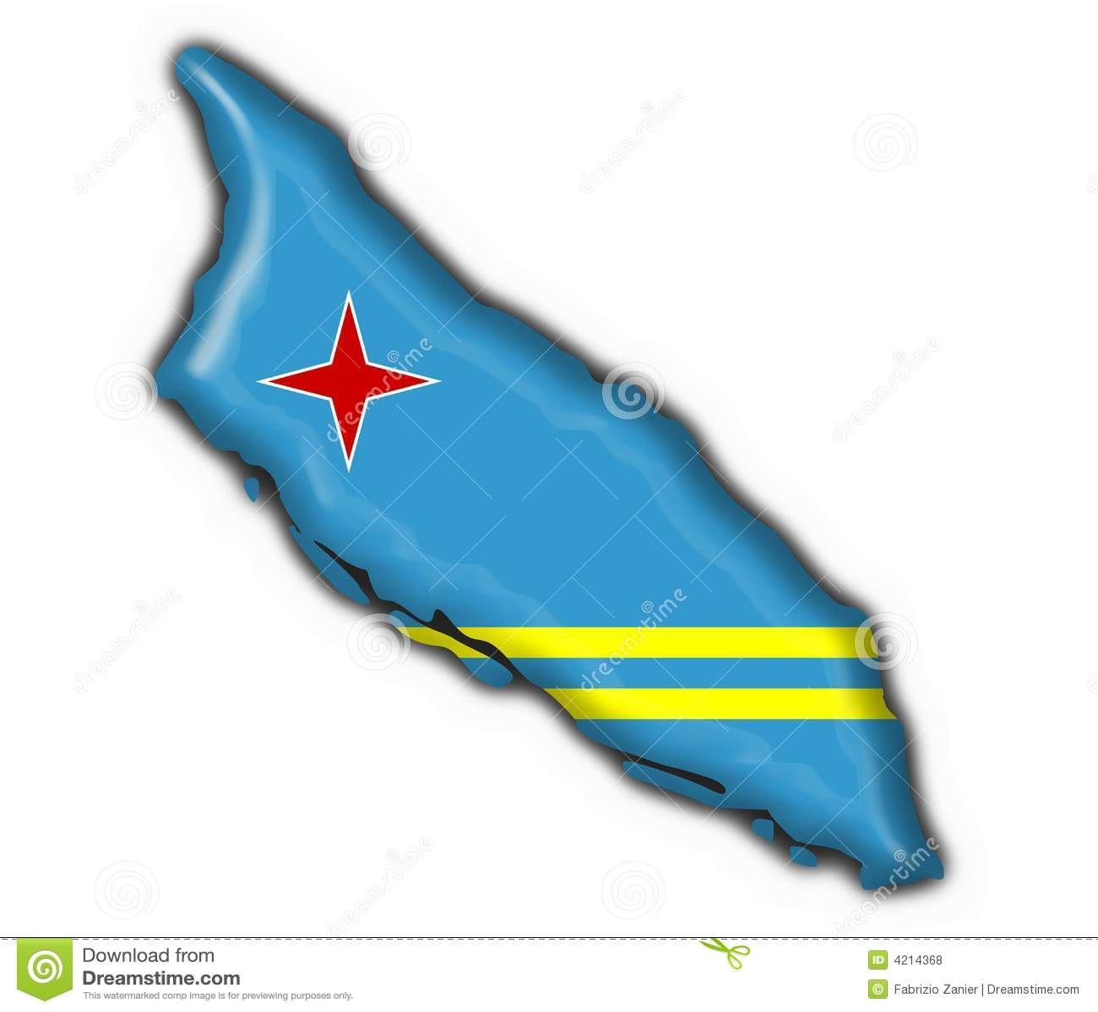 Curocao Netherlands Antilles Button Flag Map Stock Photography - Netherlands antilles aruba political map