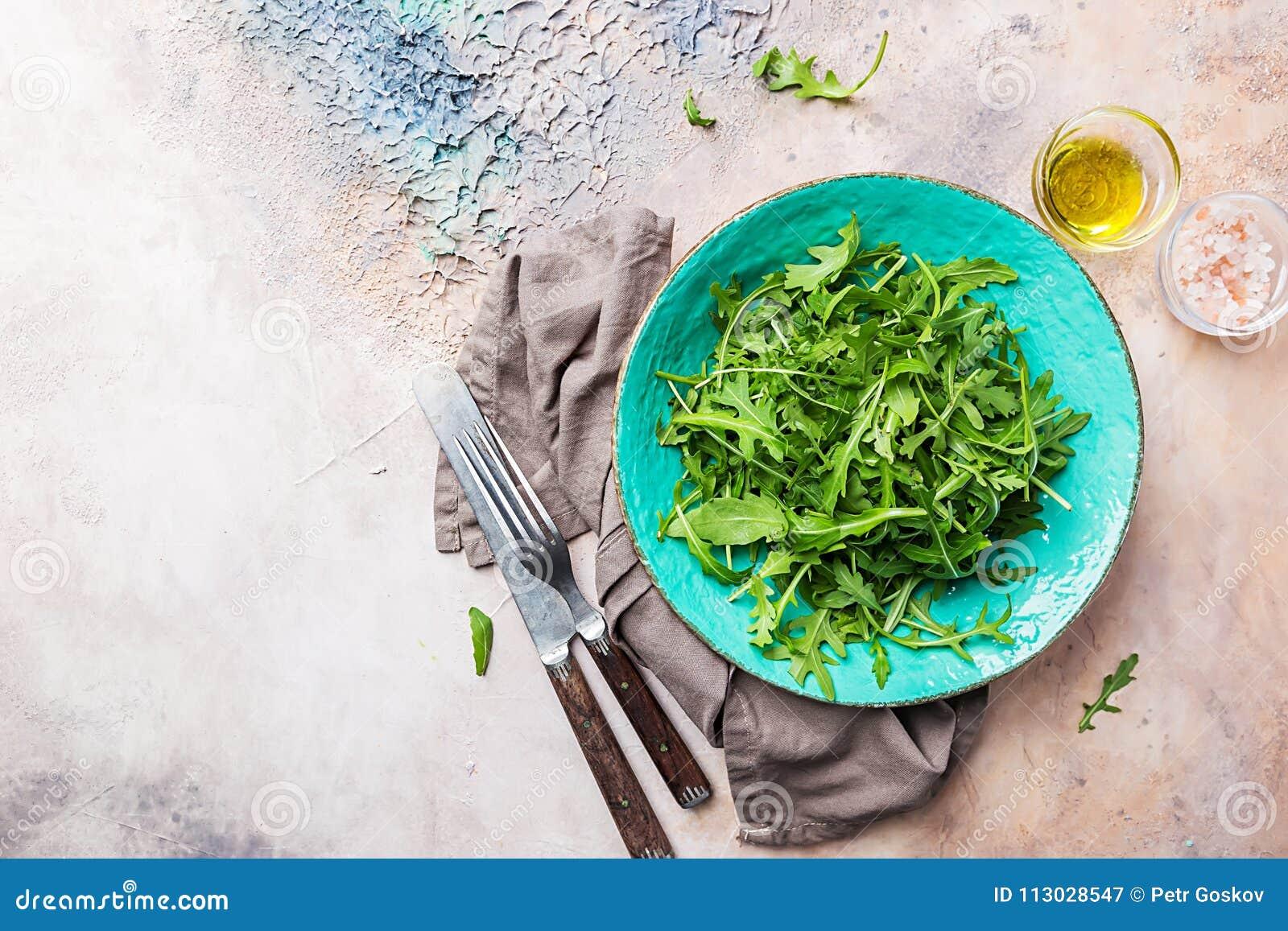 Arugula verde fresco