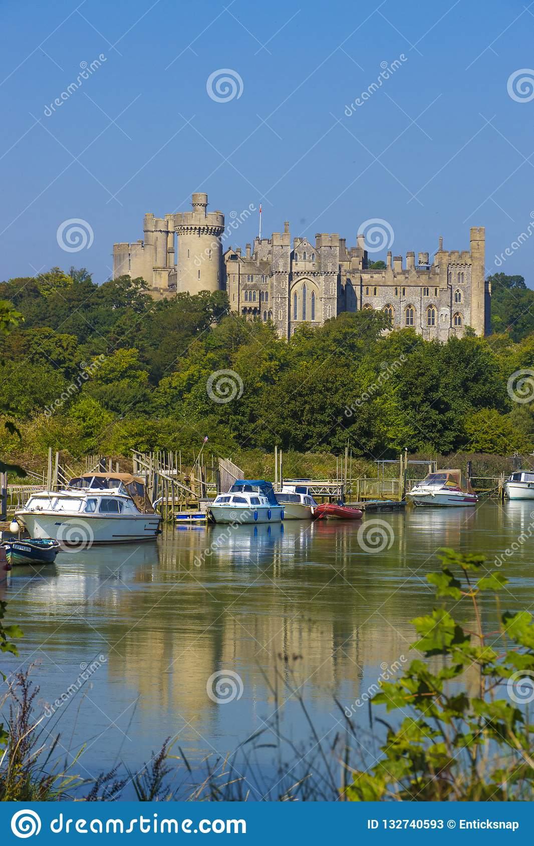 Arundel Castle & River Arun ,West Sussex, England UK