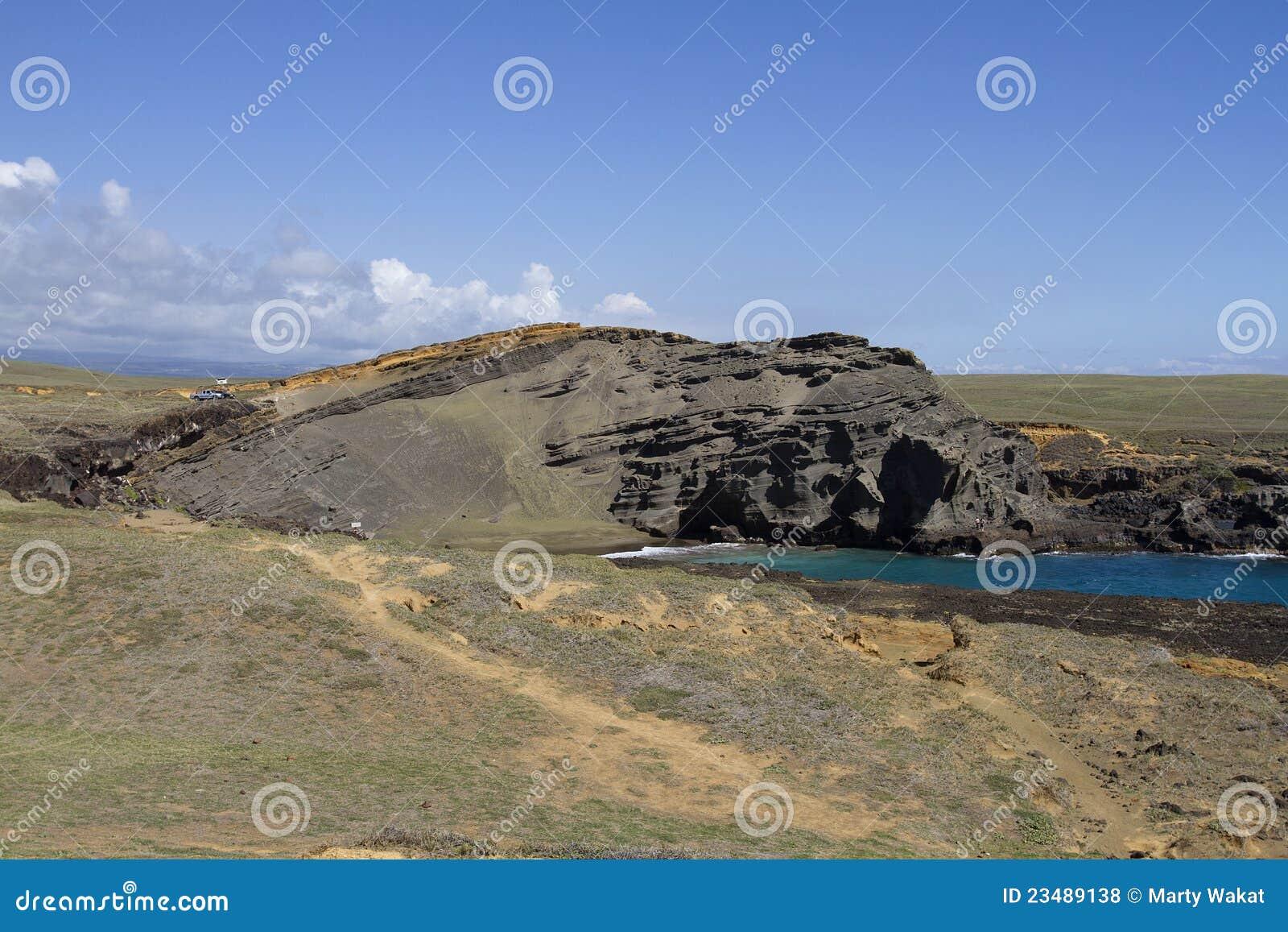 As areias verdes encalham, Papakolea