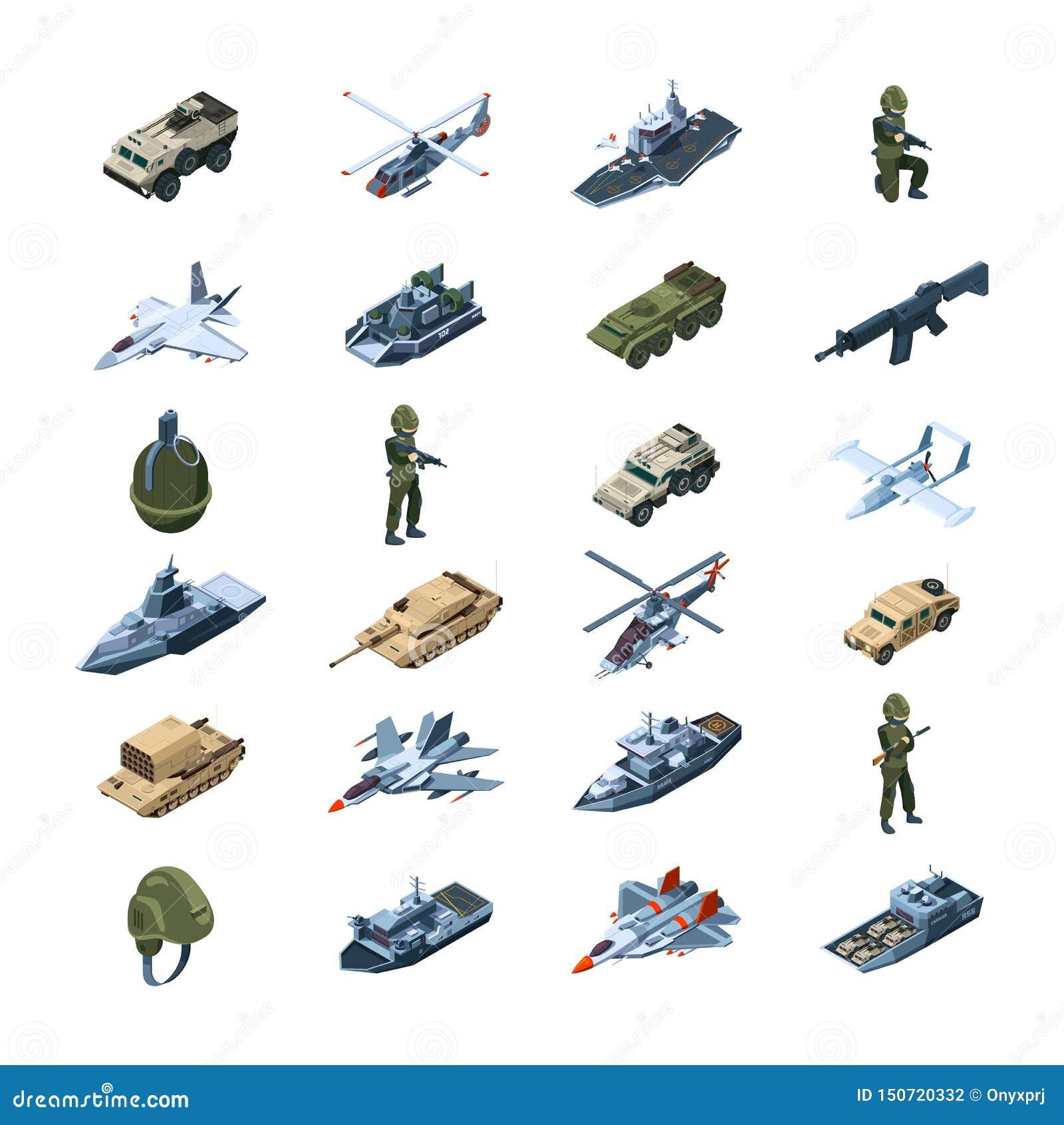 As for?as armadas transportam Vetor uniforme das ferramentas da segurança das granadas dos tanques das armas das armas da armadur