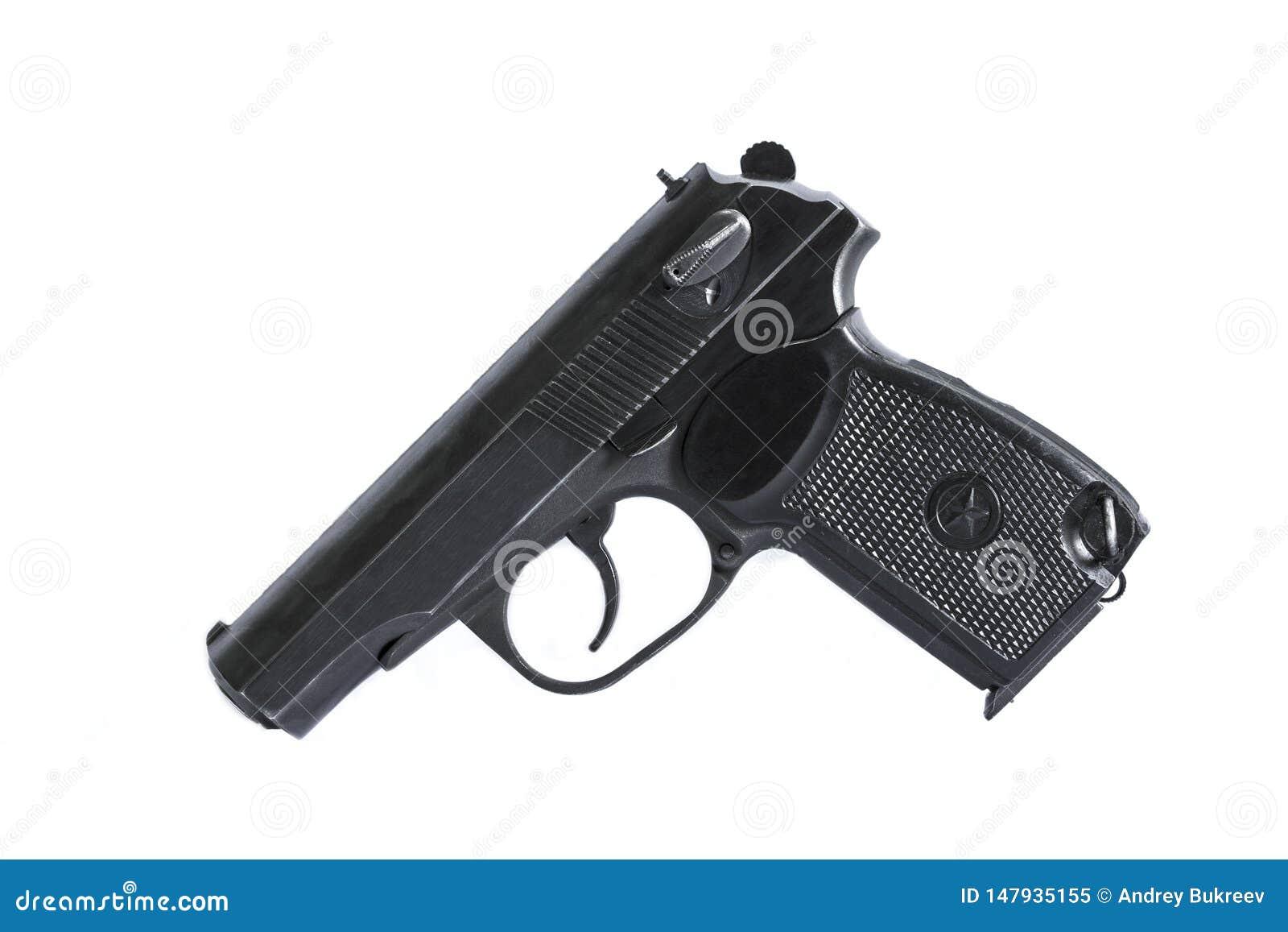 As armas de fogo atiram em um fundo e em uma textura