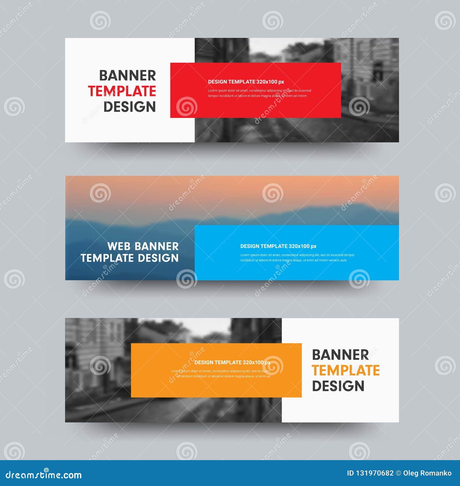 As bandeiras horizontais da Web do vetor projetam com lugar para a foto e o co