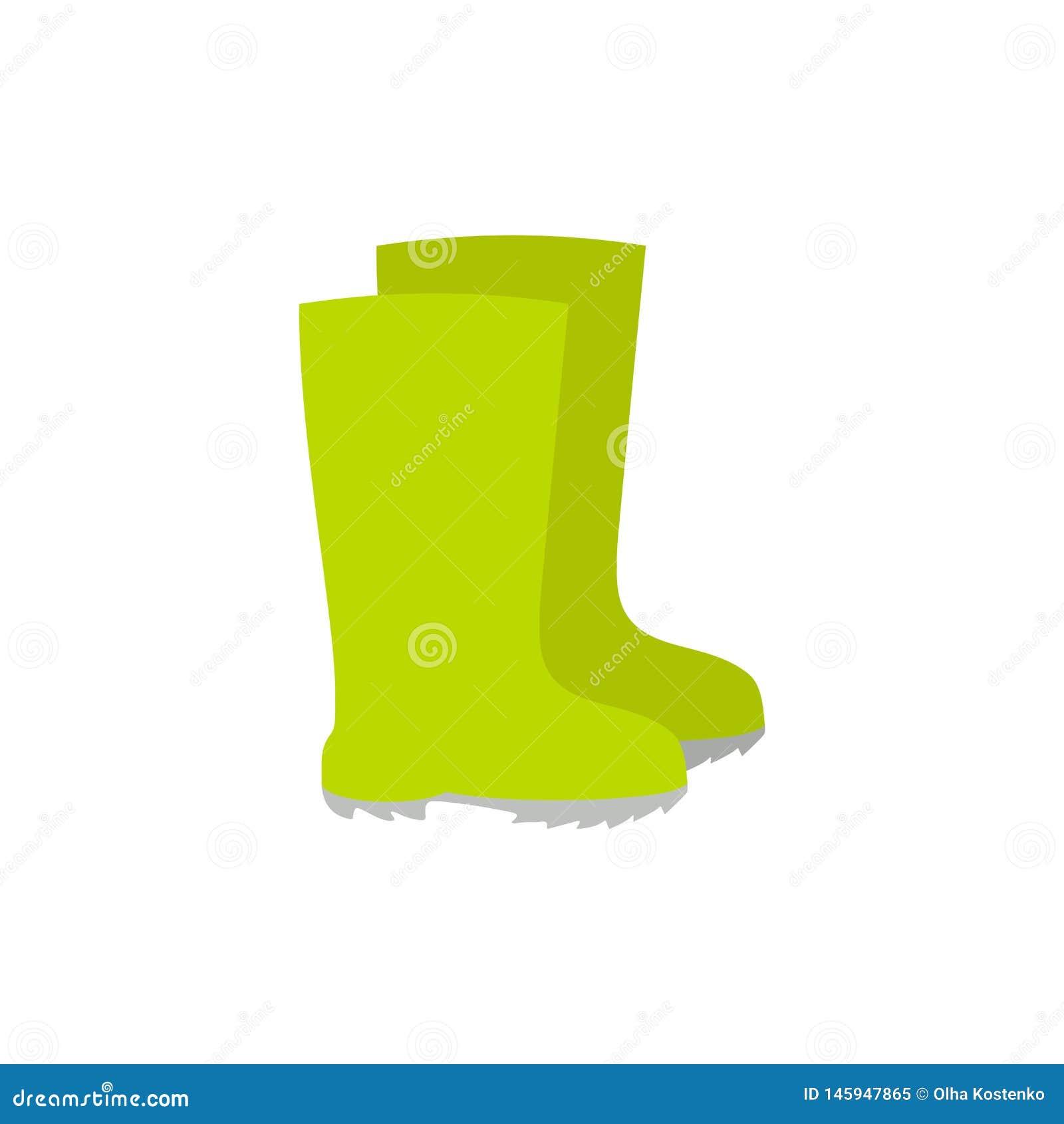 As botas de borracha, botas de chuva, ícone do vetor dos gumboots isolaram-se Ferramenta de jardim no estilo dos desenhos animado