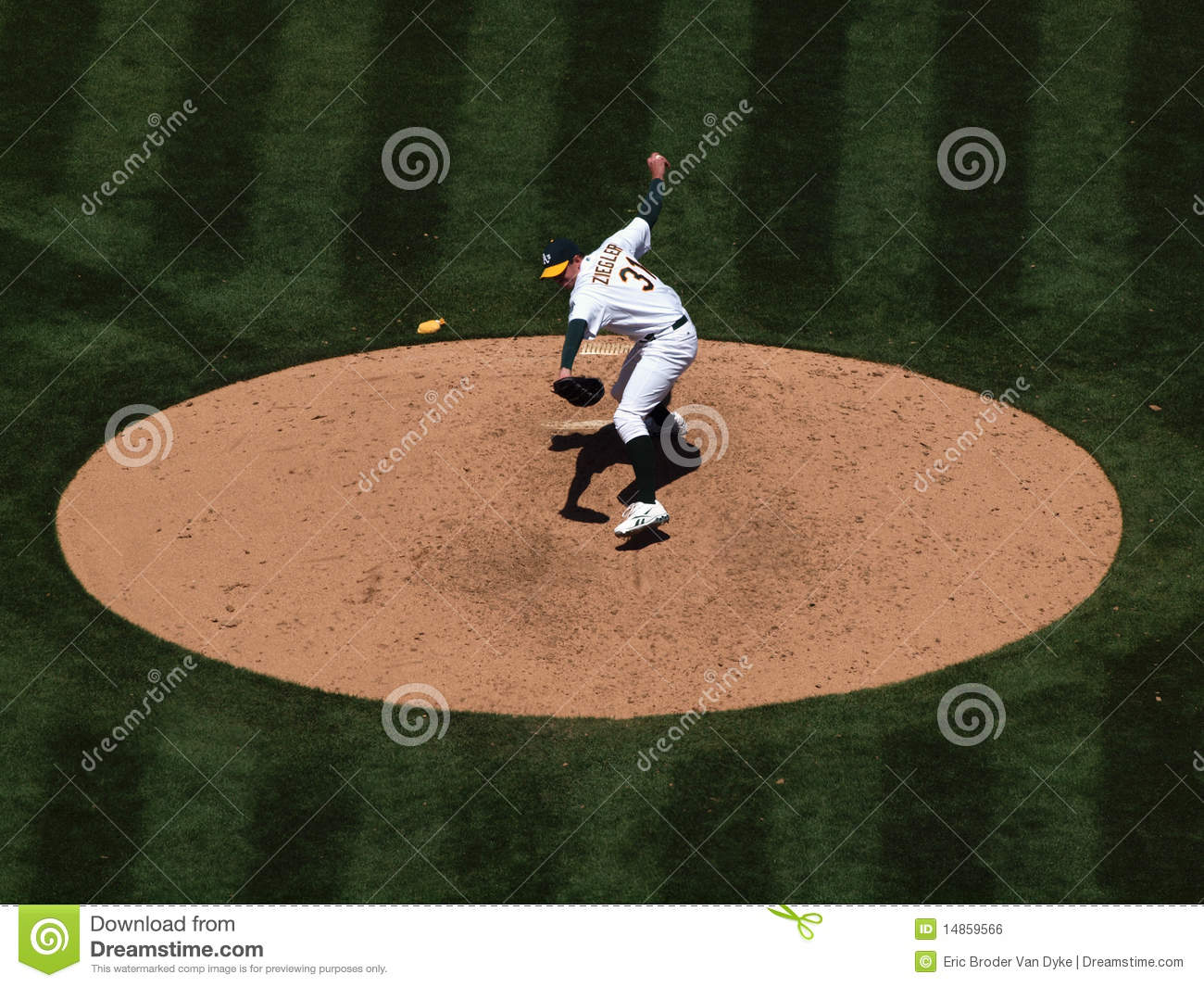 As Brad Ziegler about to throw a pitch