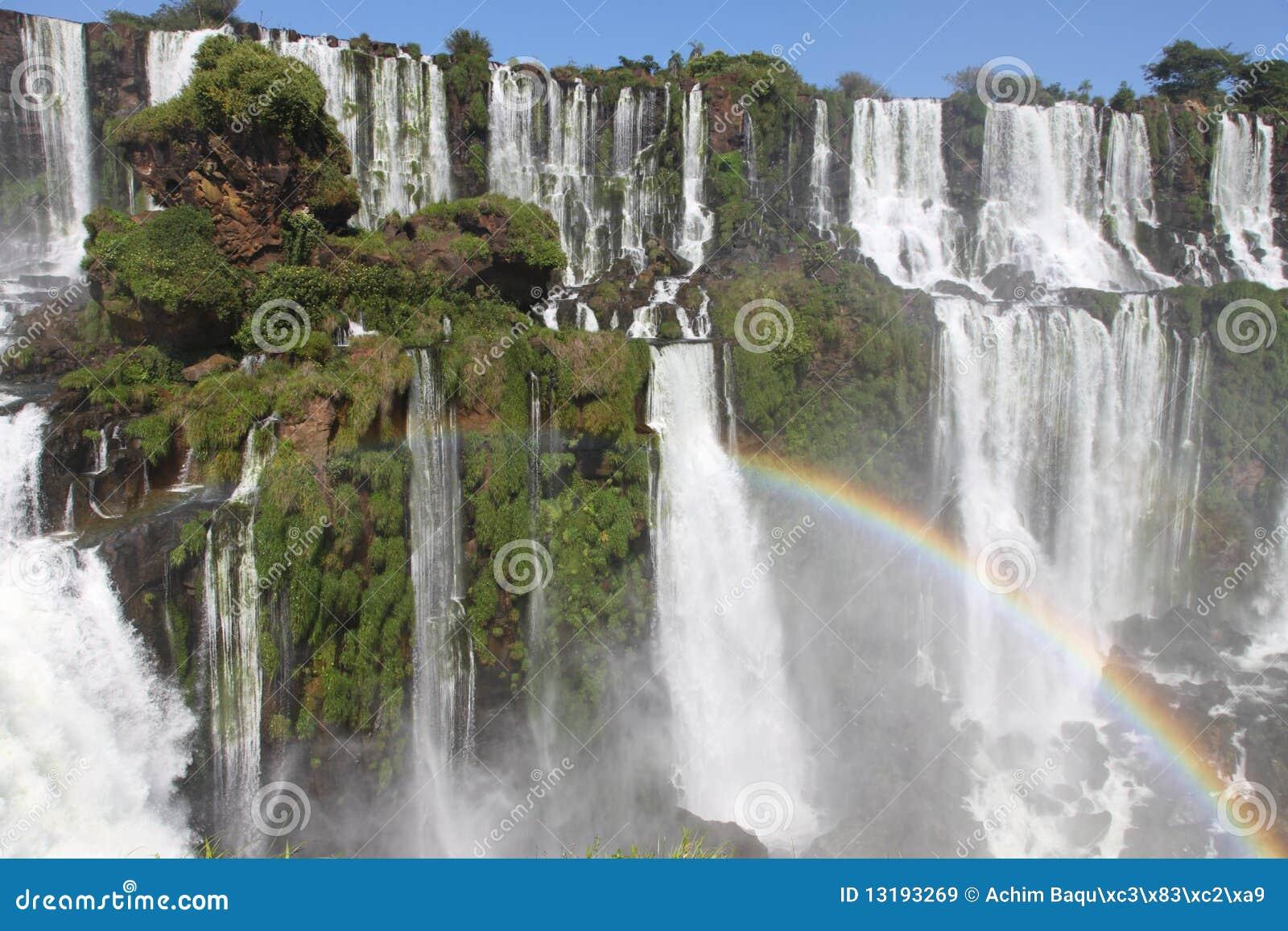 As cachoeiras as mais grandes na terra