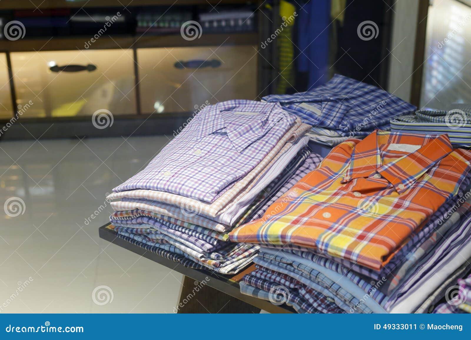 As camisas do homem