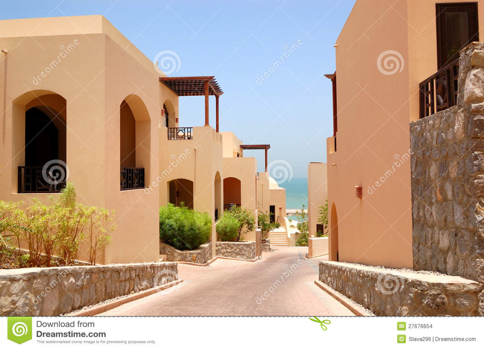 As casas de campo rabes do estilo no hotel de luxo - Casas estilo arabe ...