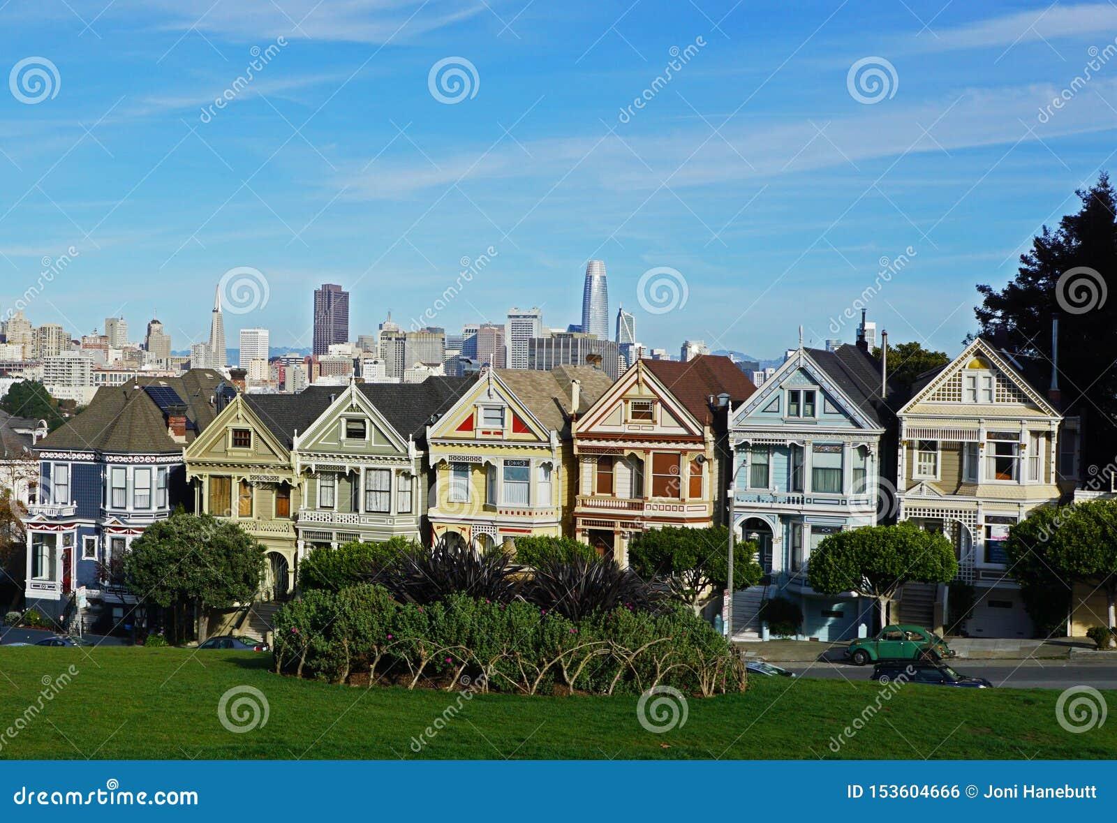 As casas pintadas das senhoras em San Francisco