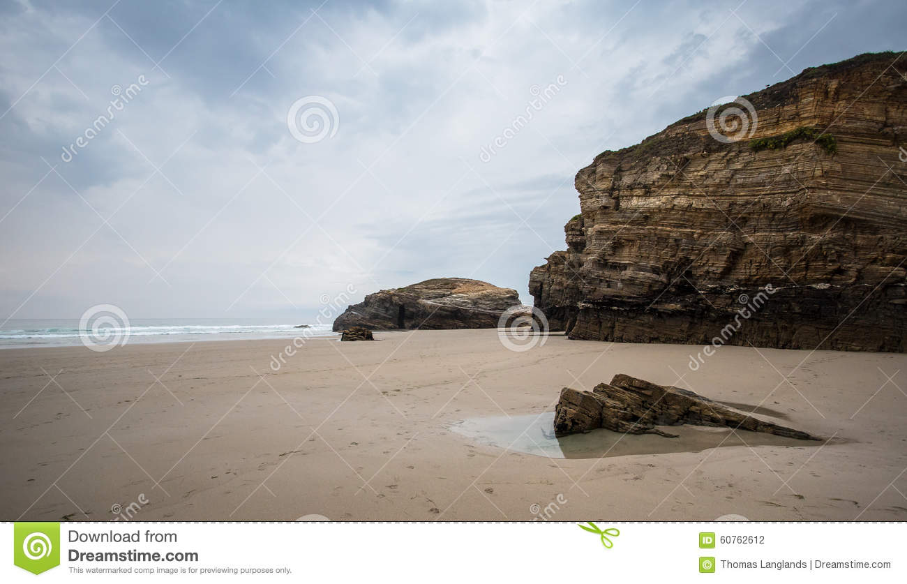 As Catedrais Beach, Galicia, Spain Stock Photo - Image: 60762612