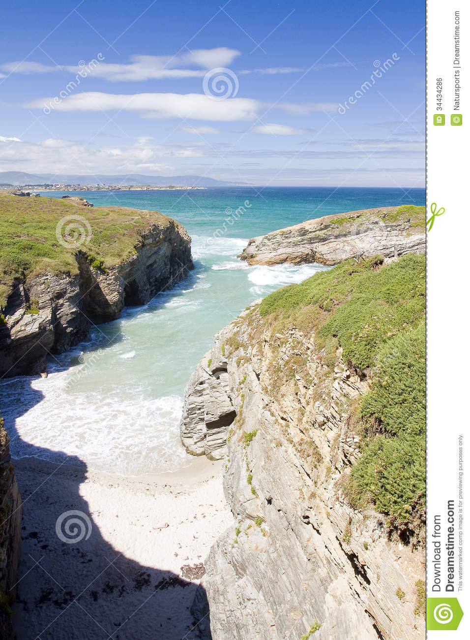 As Catedrais Beach, Spain Royalty Free Stock Image - Image: 34434286