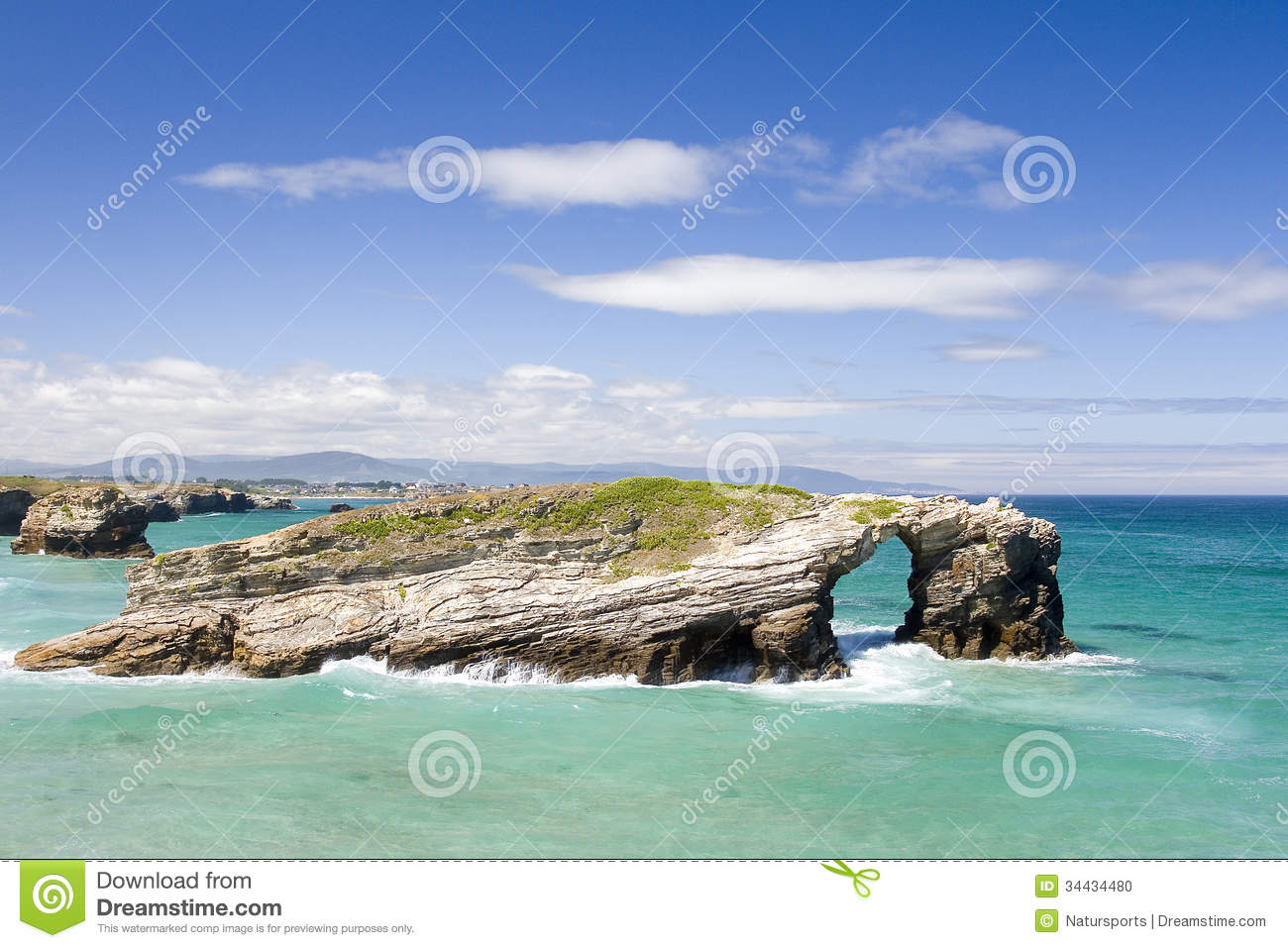 As Catedrais Beach, Spain Stock Photo - Image: 34434480