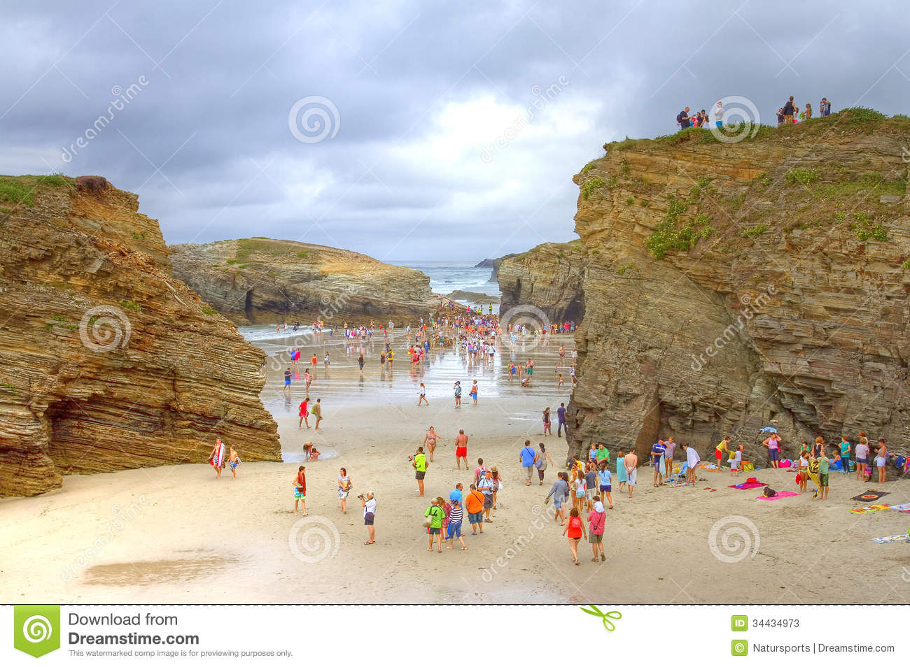 As Catedrais Beach Spain Editorial Stock Photo Image