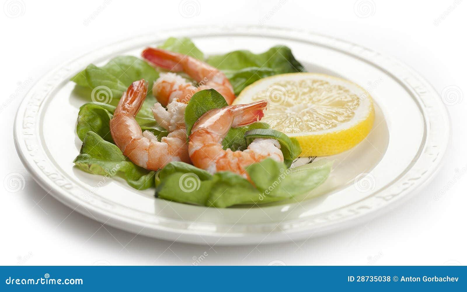 As caudas do camarão